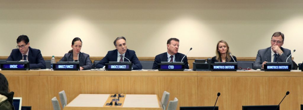 Isabelle Moeller and Roger Baldwin briefing Member States at UN headquarters in New York